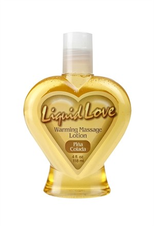 Liquid Love Warming Massage Lotion Pina Colada 4 oz